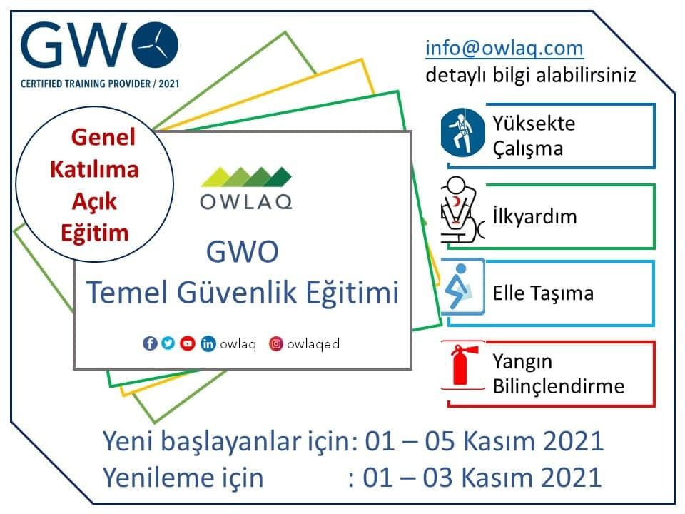 GWO Temel Güvenlik Eğitim Duyurusu!